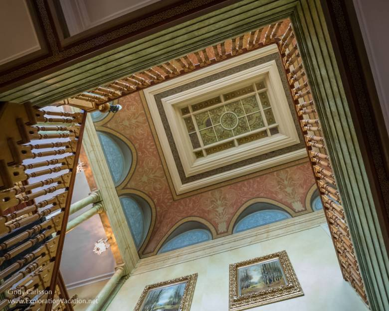 stairwell Sparreholm Castle Sweden - www.ExplorationVacation.net