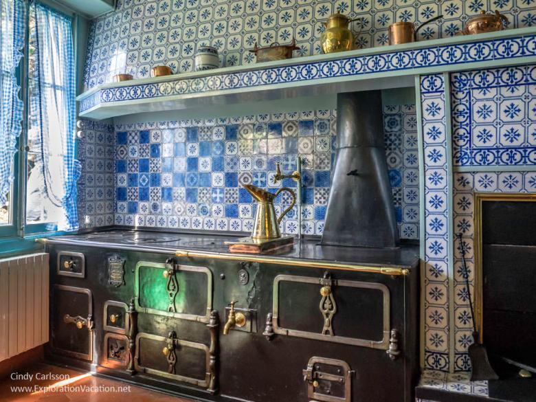 kitchen Monet's house Giverny France - www.explorationvacation.net