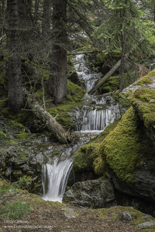 waterfall Lake O'Hara Yoho National Park British Columbia Canada - www.ExplorationVacation.net