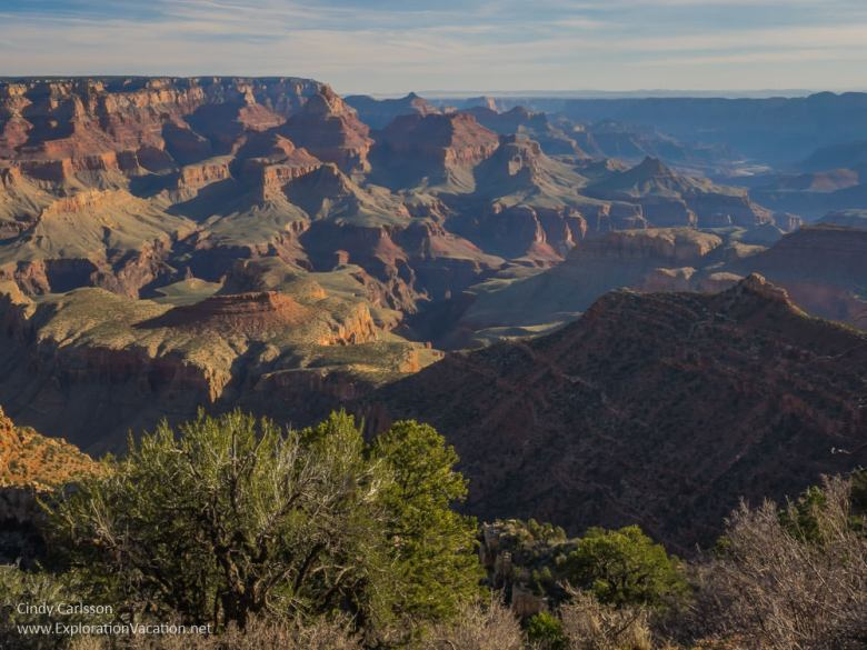Scenic views from the Grand Canyon's south rim - Grandview Point - www.ExplorationVacation.net