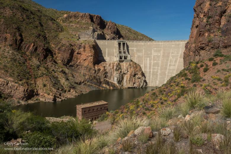 Theodore Roosevelt Dam Arizona Apache Trail Historic Highway road trip - www.explorationvacation.net