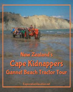 Cape Kidnappers tractor tours in Hawkes Bay New Zealand - www.ExplorationVacation.net