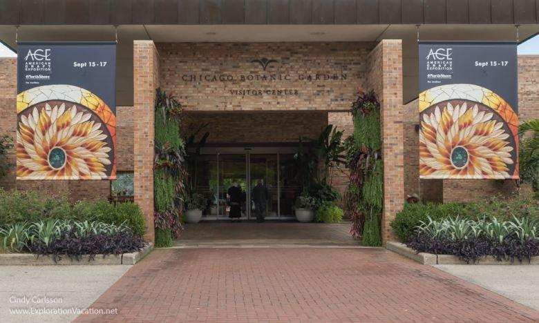 Entrance to the Chicago Botanic Garden - ExplorationVacation.net