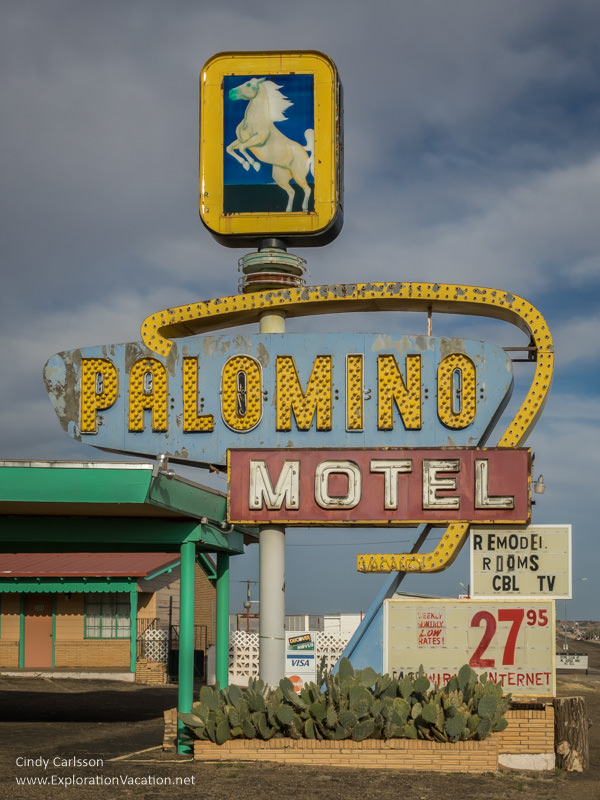Palomino Motel on historic Route 66 in Tucumcari New Mexico - ExplorationVacation.net