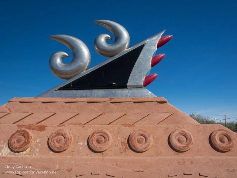 Route 66 Monument in Tucumcari New Mexico - ExplorationVacation.net