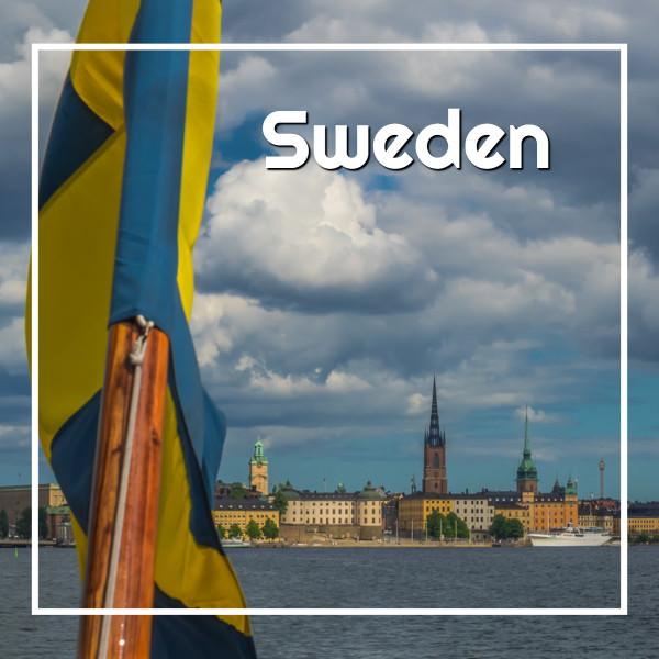 #Sweden travel guide - Swedish flag in Stockholm - ExplorationVacation