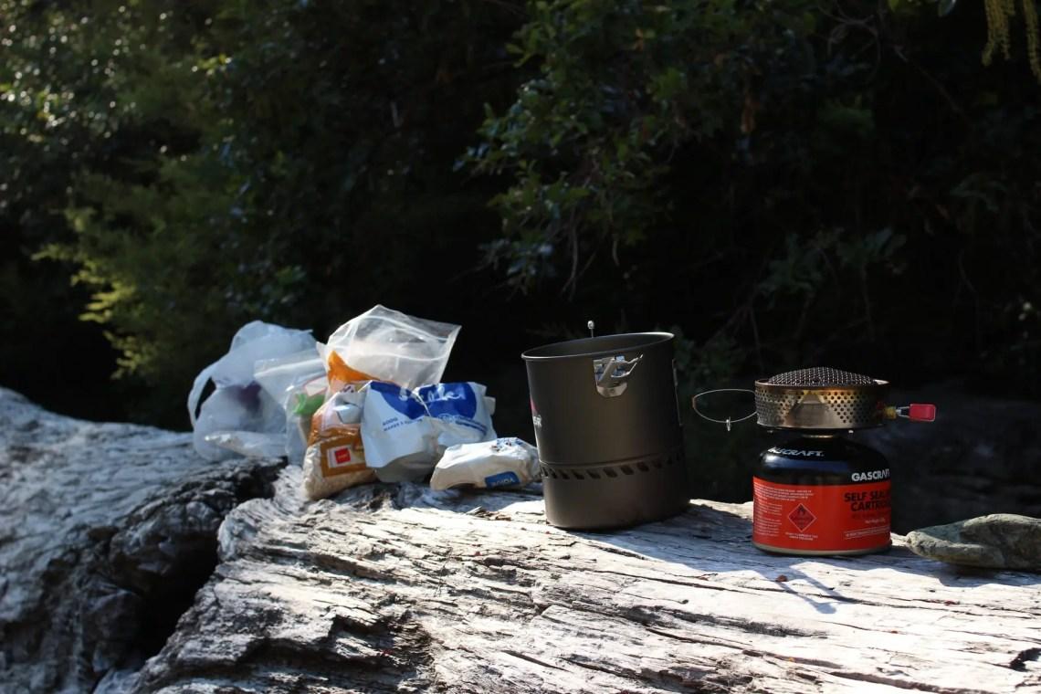 Frühstück Te Araroa Neuseeland Fernwanderung