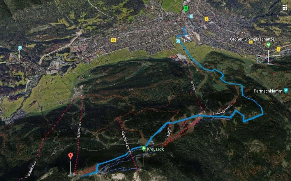 Alpenüberquerung L1 Garmisch-Partenkirchen zum Kreuzeckhaus
