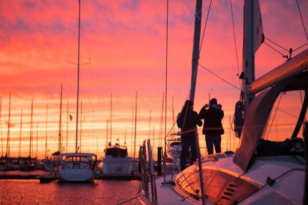 Marina Kühlungsborn Sonnenuntergang Segeltörn