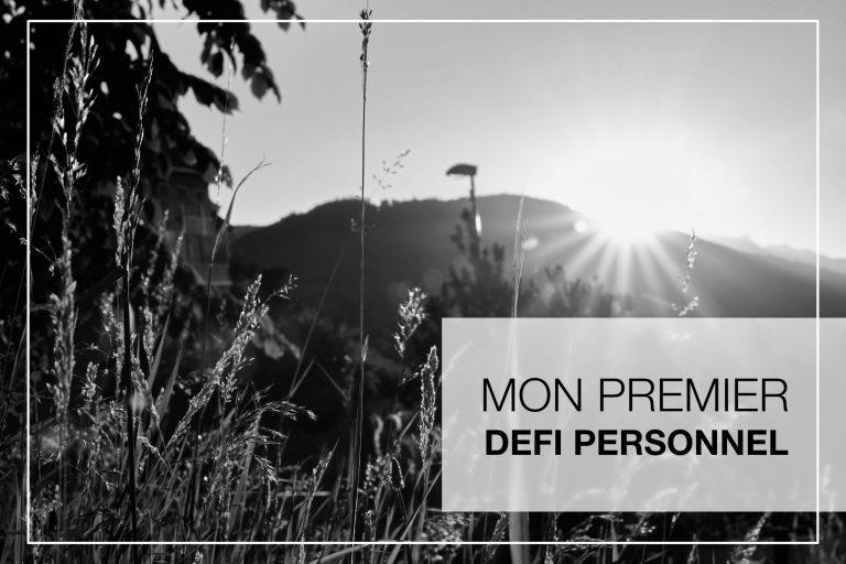 Cover Article - Premier defi personnel