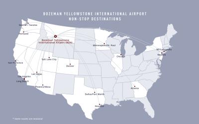 New Direct flights to Bozeman