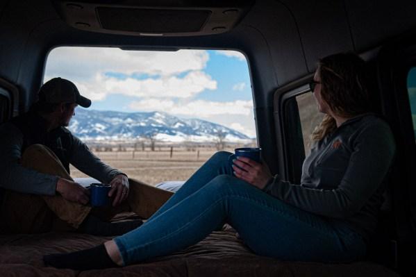 Bed, in a Van