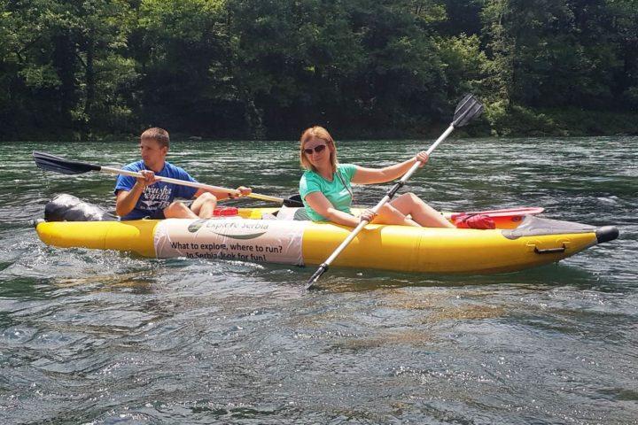 kayaking on the Drina
