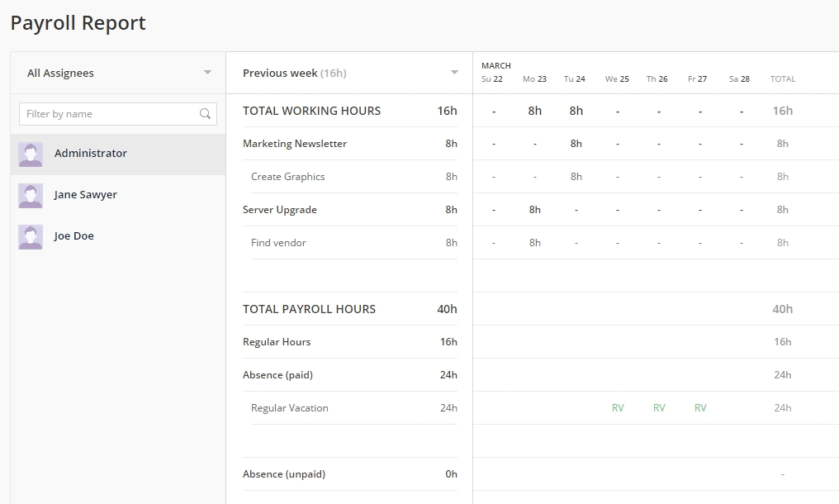 New! Payroll Reports