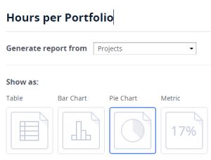 Charts and metrics in report generator