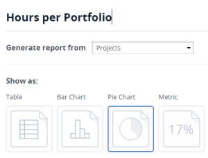 Charts and metrics in report generator