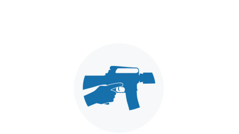 Blue Icon of Finger Off The Trigger
