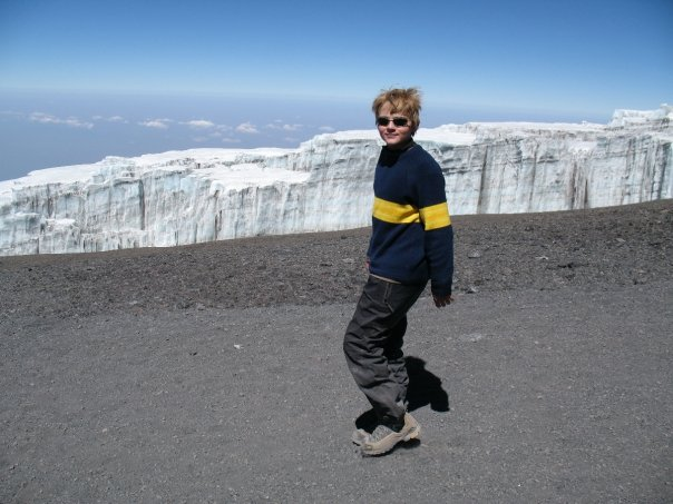 Myles Anderson headed off the top, last of the Snows of Kilimanjaro