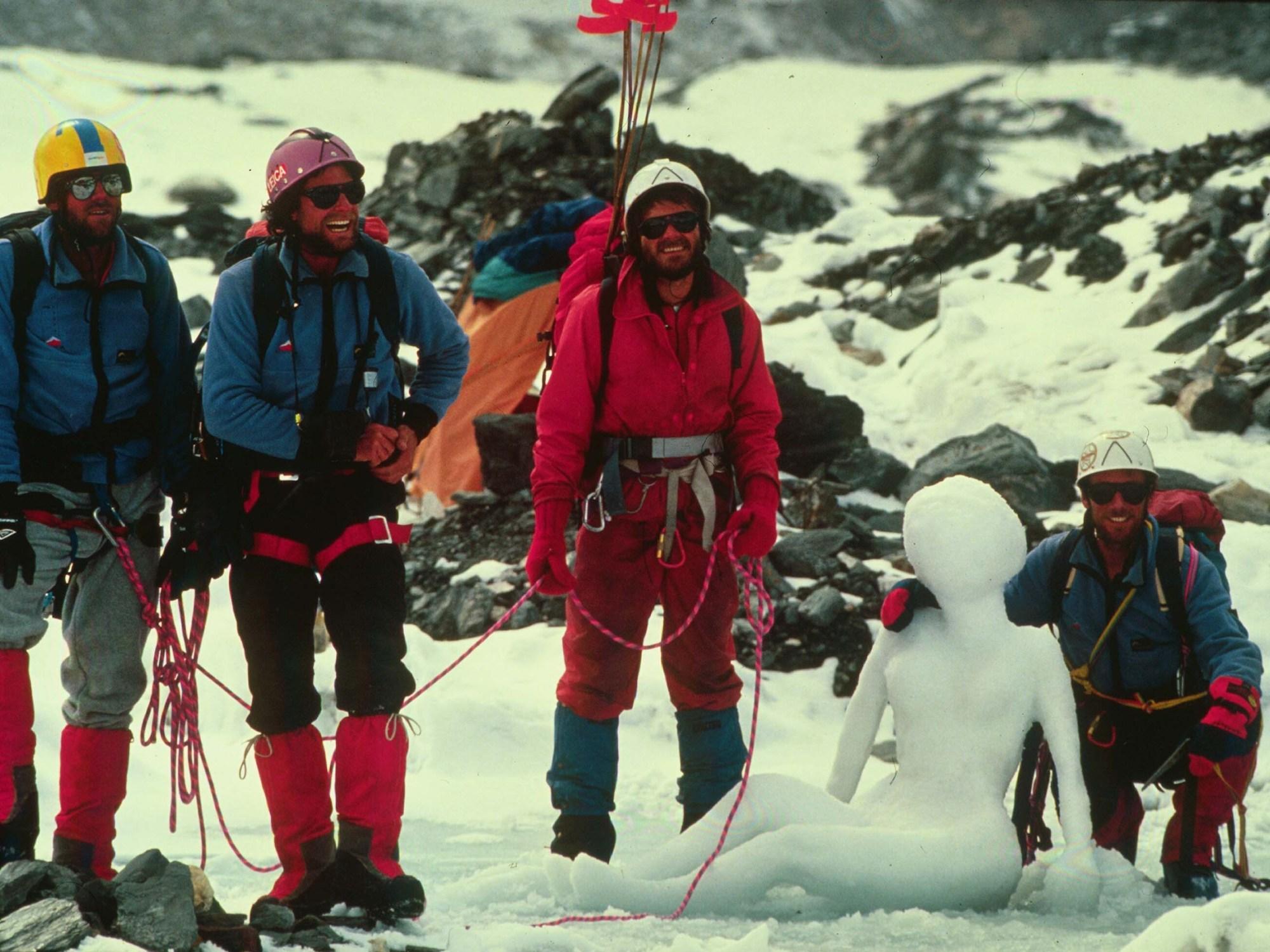 Kangshung Face, Everest, Stephen Venables, Robert Mads Anderson, Ed Webster, Paul Teare