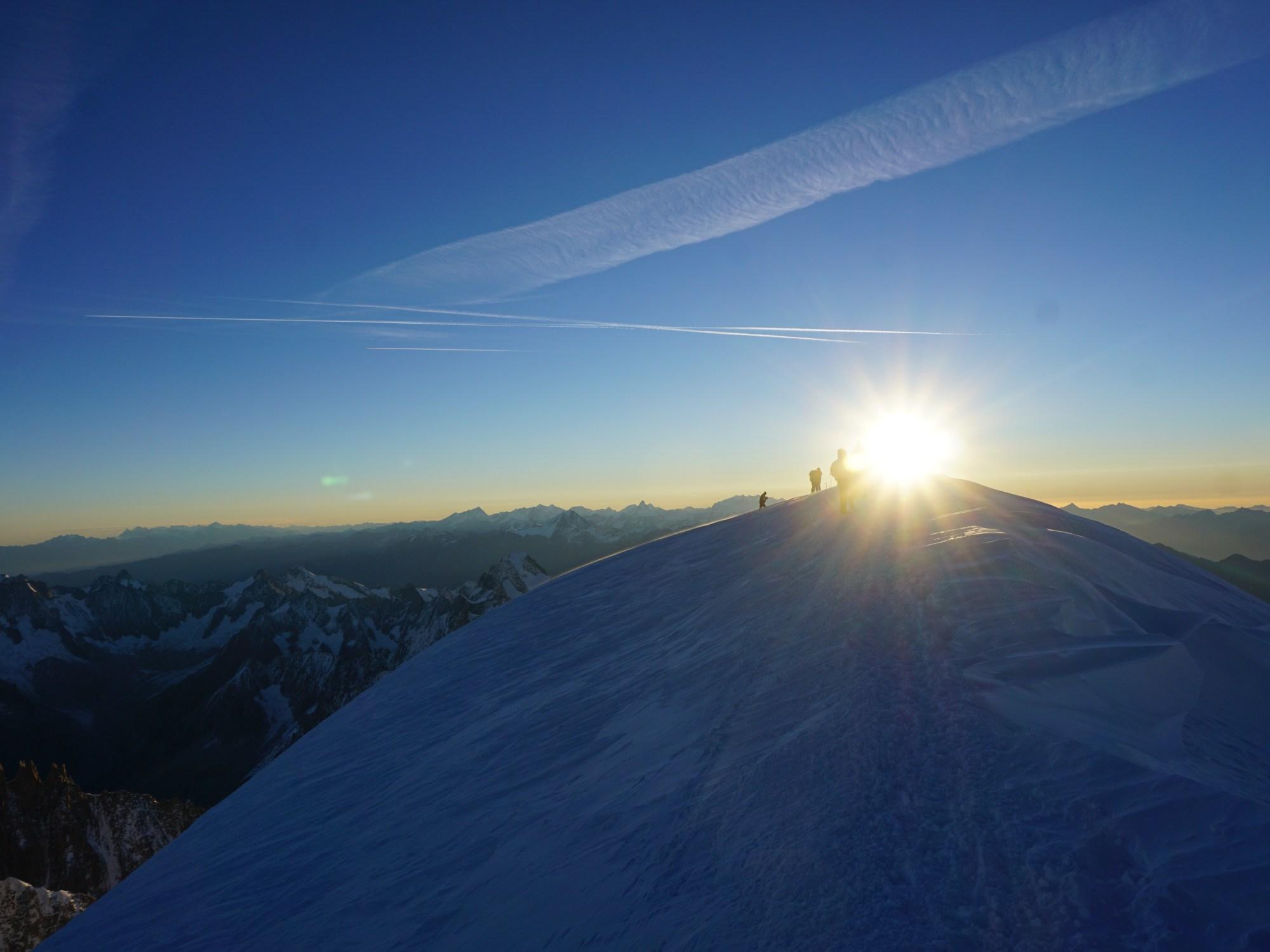 mt blanc, summit, sunrise, jo clark