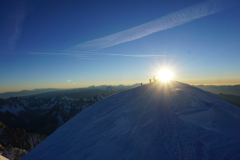 mt blanc, summit, sunrise, jo clark