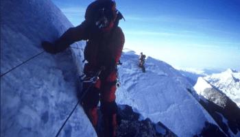 Everest summit ridge, Sibusisu Vilane