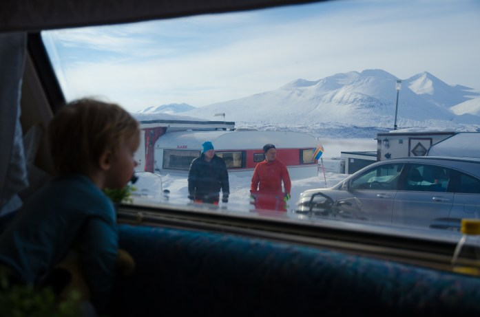View from our mobile home - explore a little more
