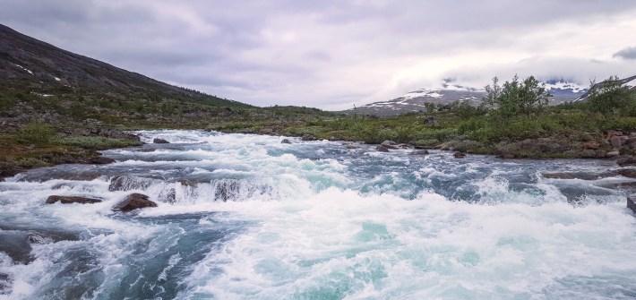 Kaitum River - kungsleden Swedish Lapland