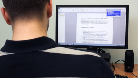 Man Using Screen Reader