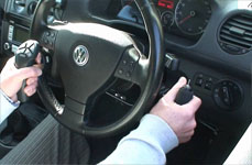 Hand controls in car