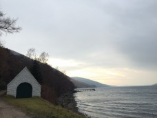 Boathouse , looking back