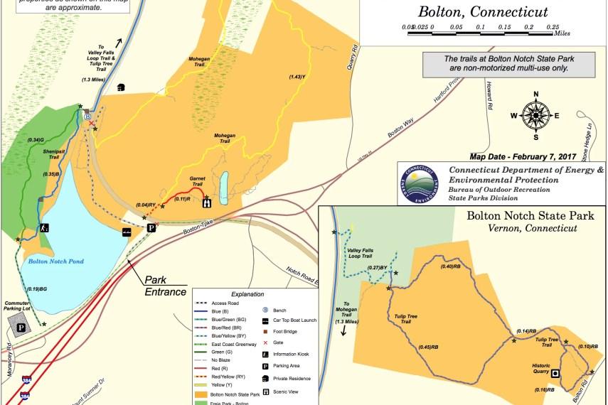 Bolton Notch State Park Trail Map