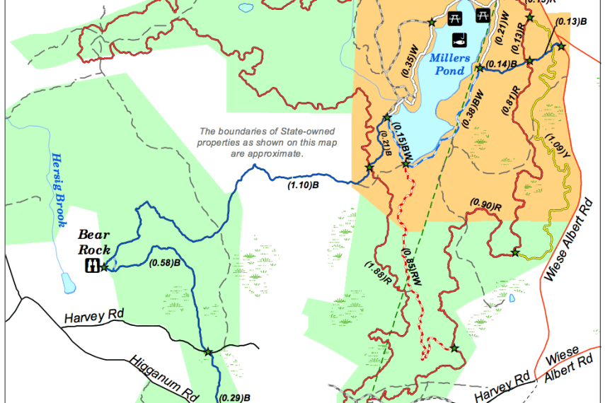 Millers Pond Trail Map