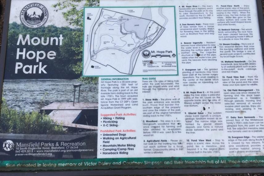 Mount Hope Signboard