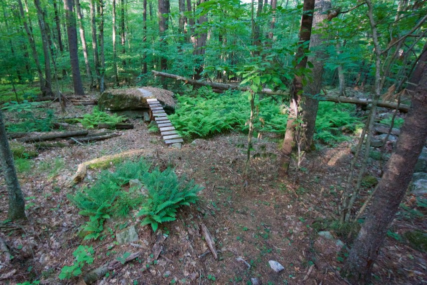 Mountain Bike Feature at Schoolhouse Brook