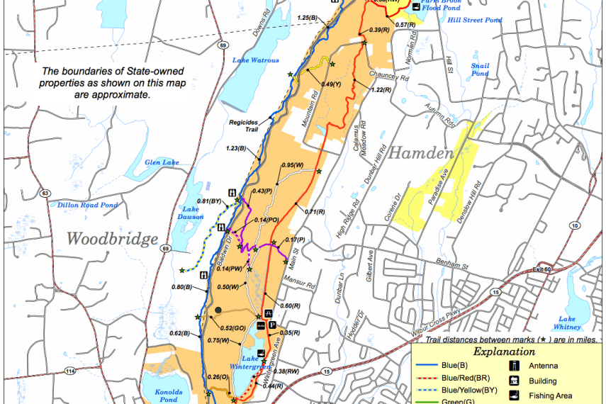 West Rock Ridge State Park Trail Map