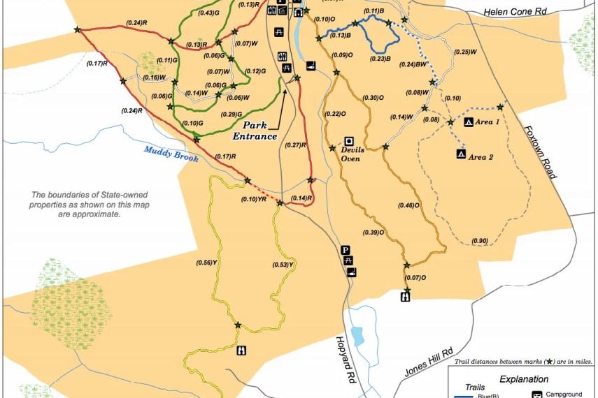 Devil's Hopyard Trail Map