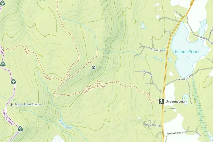Mount Riga Trail Map