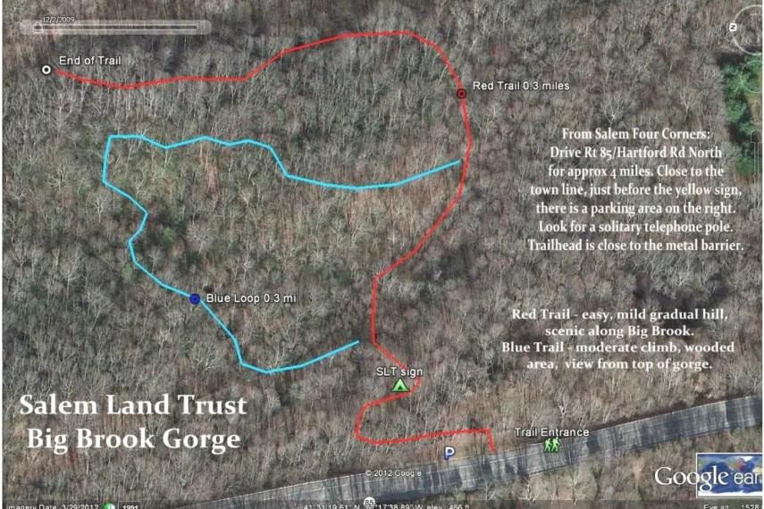 Big Brook Gorge Trail Map