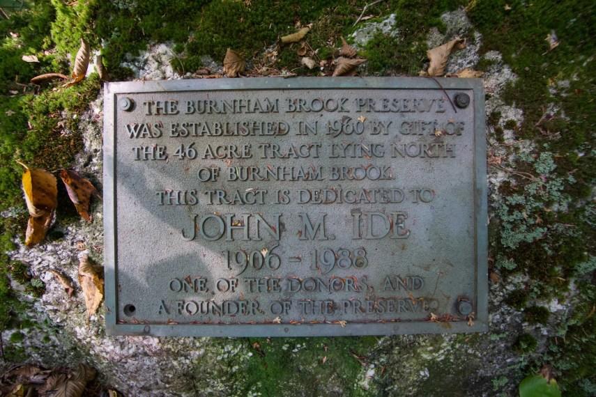 Burnham Brook Founder Plaque
