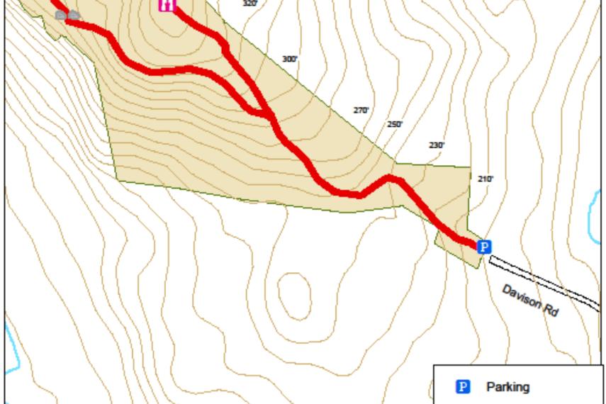 Davison Memorial Walking Park Trail Map