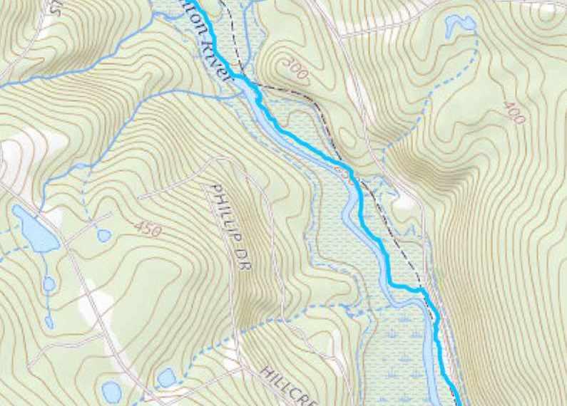 Nipmuck Chaffeeville Silk Mill Trail Map