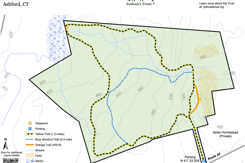 Josias Byles Trail Map
