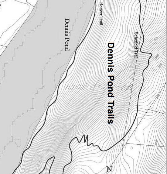 Dennis Pond Trail Map