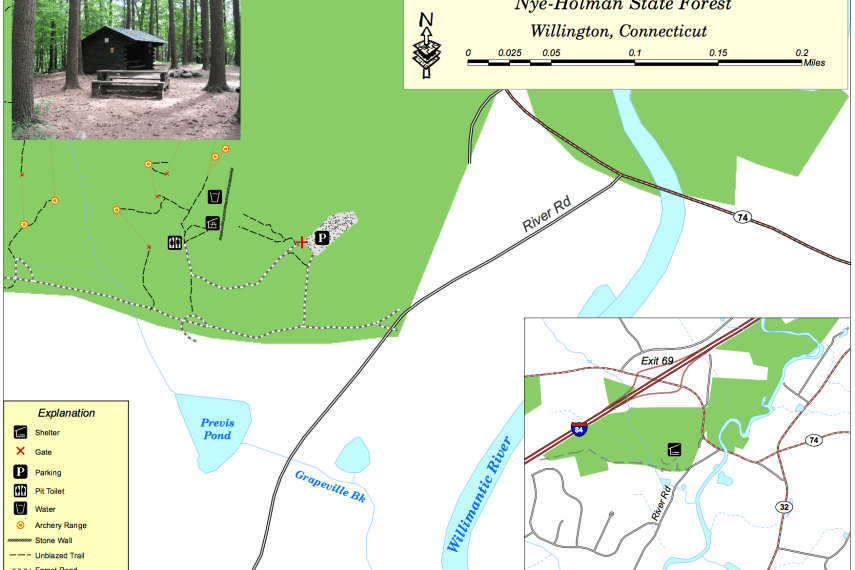 Nye Holman State Forest Map