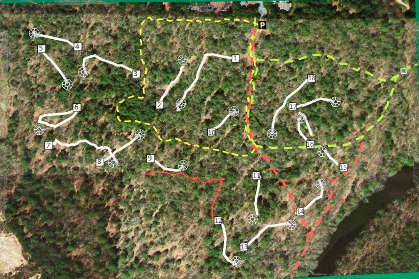 Davis Forest Disc Golf Map