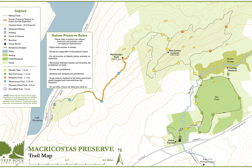 Macricostas Preserve Trail Map