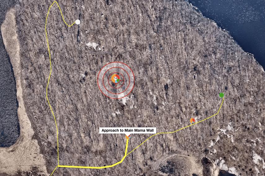 Mamacoke Rock Climbing Map