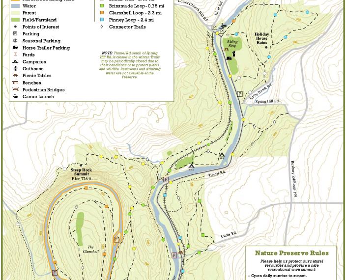 Steep Rock Preserve Trail Map