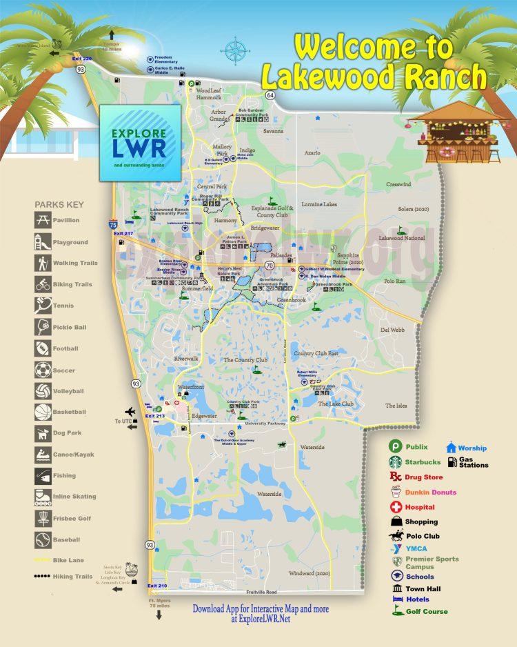 Map of Lakewood Ranch Map